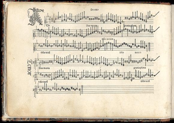 mare nostrum graficas impresion partituras Ottaviano Petrucci, Harmonice Musices Odhecaton