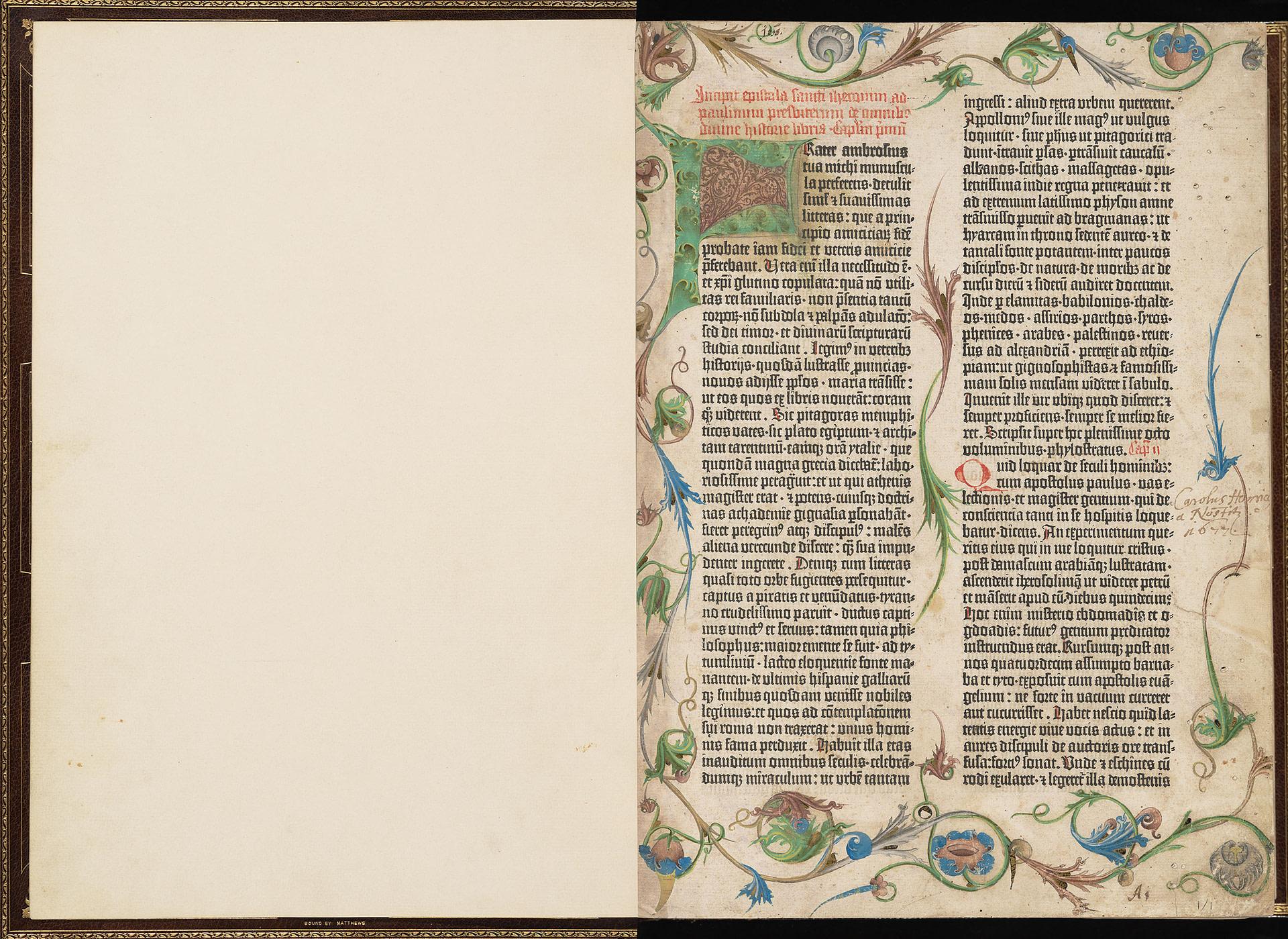 mare nostrum graficas gutenberg biblia 1455 morgan library