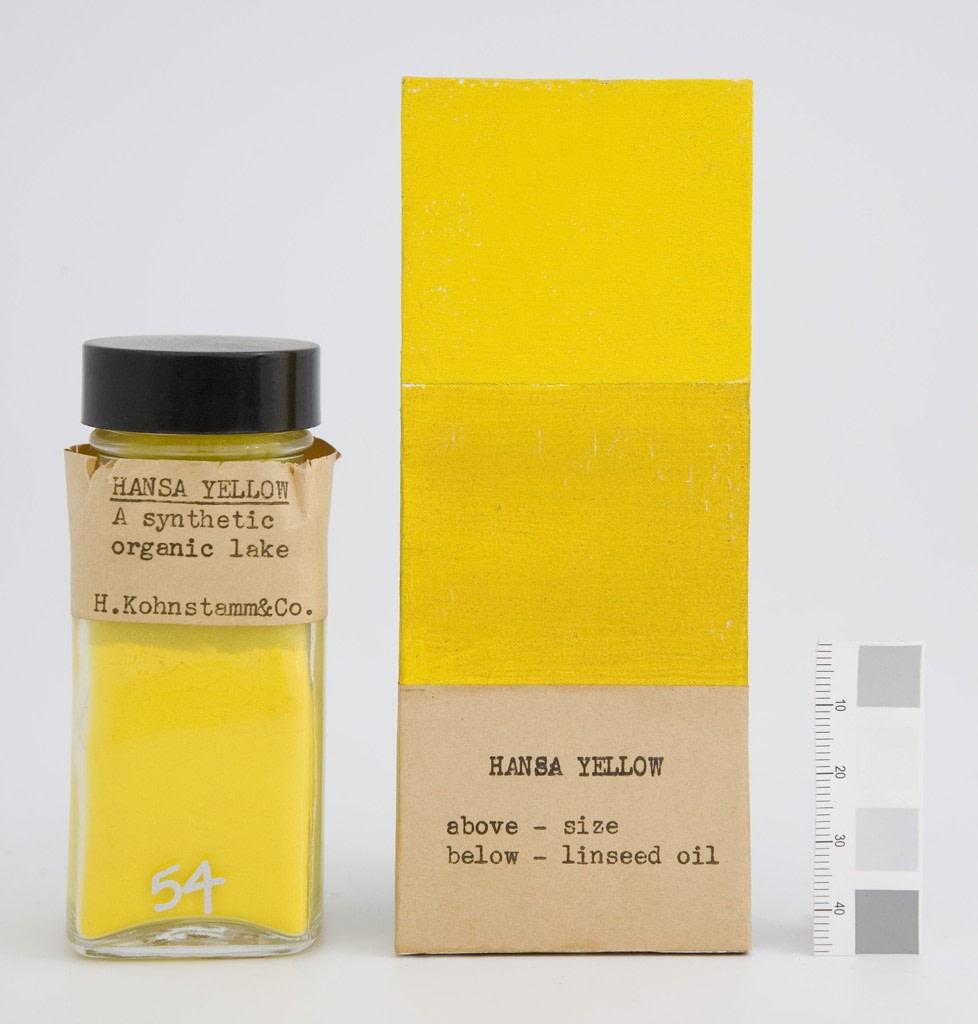 mare nostrum graficas pigmentos Harvard museo Fogg amarillo Hansa