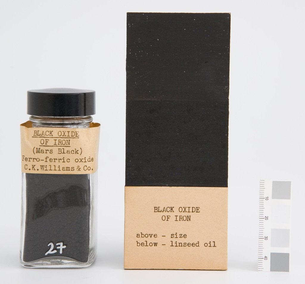 mare nostrum graficas pigmentos Harvard museo Fogg negro oxido de hierro