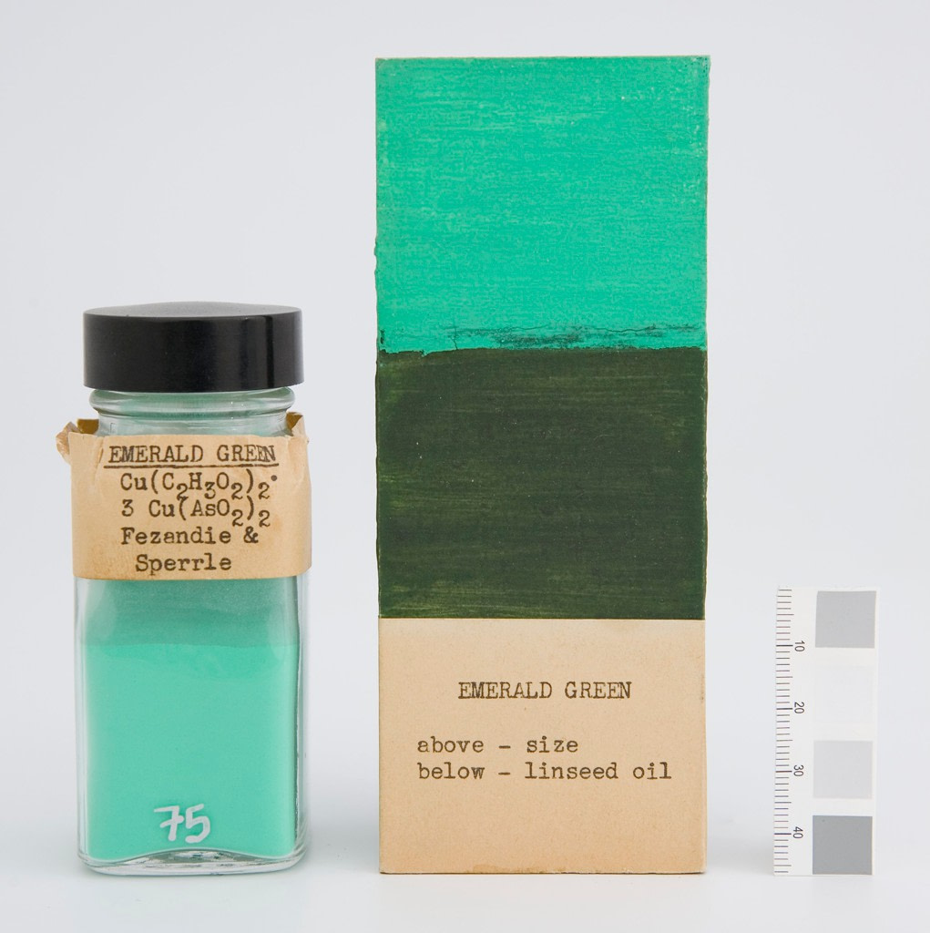 mare nostrum graficas pigmentos Harvard museo Fogg verde esmeralda